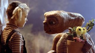 Drew Barrymore and ET in ET: The Extraterrestrial