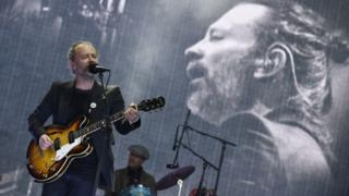 Thom Yorke took to the stage