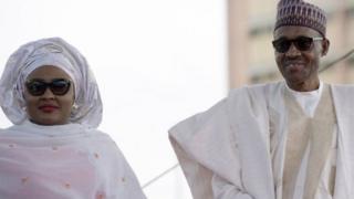 Mkewe rais Buhari na mumewe