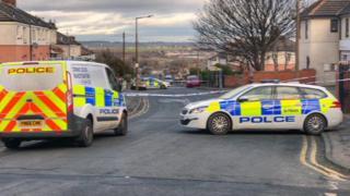 Police cordon in Wath