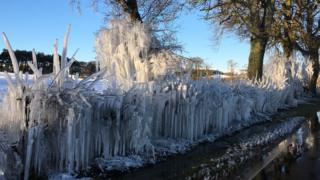 ice puddle in edinburgh