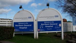 Signs outside Northern General Hospital