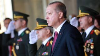 Turkish President Recep Tayyip Erdogan in Ankara, 30 August