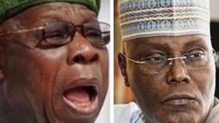 Obasanjo ati Atiku