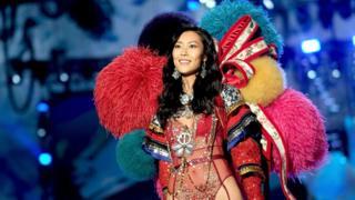 Liu Wen walks the runway during the 2017 Victoria's Secret Fashion Show In Shanghai