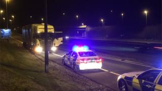 Lorry stopped on M6 Toll