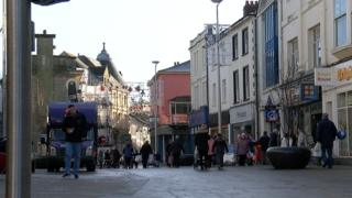 Pontypool town centre