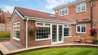 A rear extension on a detached house