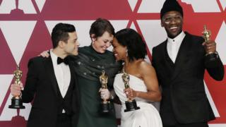 Rami Malek, Olivia Colman, Regina King and Mahershala Ali