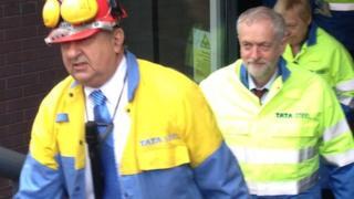 Jeremy Corbyn at Tata Steel in Scunthorpe