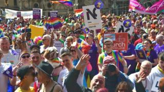 Pride festival go-ers