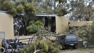 Storm damage in Blyth, South Australia (29 Sept 2016)