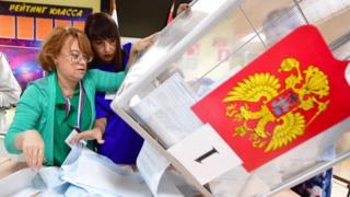 Подсчет голосов во Владивостоке (8 сентября)