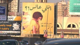 """Mısır tepki çeken """"kadın"""" panoları"""