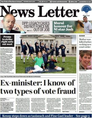 News Letter front page Thursday 18th May