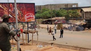 Une rue d'Onitsha, une ville située dans le sud-est du Nigeria