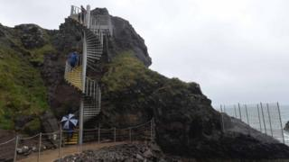 The Gobbins coastal path reopened to the public last summer after six decades of closure