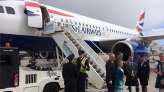 First of new BA flights lands at Inverness Airport