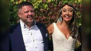 Brian O'Callaghan-Westropp and his wife Zoe Holohan