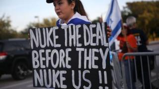 Nükleer anlaşma protestosu