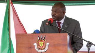 Perezida w'u Burundi Petero Nkurunziza