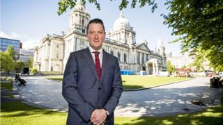 John Finucane at Belfast City Hall