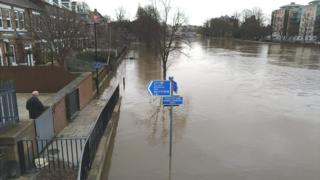 The River Ouse in York earlier this week
