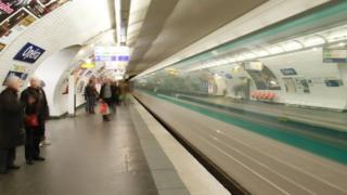 Estación de metro Opéra, en París
