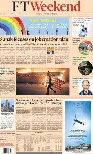 The Financial Times front page 30 May