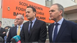 Leo Varadkar visiting a school closed in Dublin because of strucutural issues