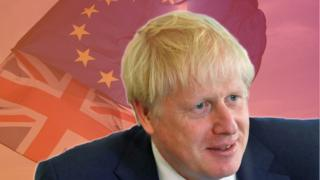 UK-PM-boris-johnson-on-a-background-of-EU-and-Union-Flags