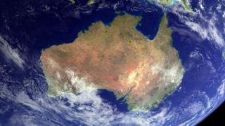 Australia seen by satellite