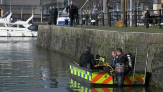 Lewis Ball police diver search