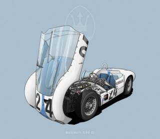 "Maserati Tipo 61 - ""Birdcage"""