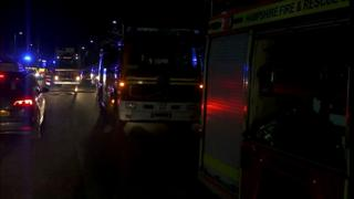 Fire appliances at the scene