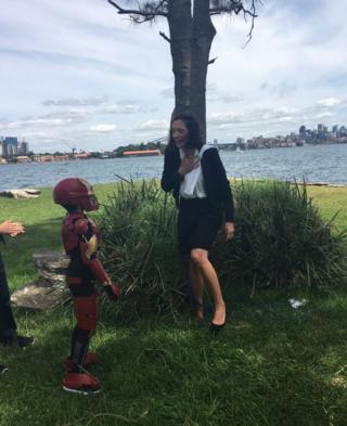 Iron Boy saves Make-A-Wish's Hope Joy after riding a police speedboat across Sydney Harbour