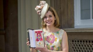 Darcey-Bussell-at-her-investiture-when-she-was-made-a-Dame.