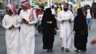 People walking in Riyadh (file photo)
