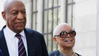 Bill Cosby arrives with his wife, Camille, in Norristown, Pennsylvania.