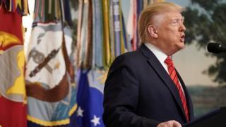 Rais Trump akivihutubia vyombo vya habari kufutia kifo cha Baghdadi