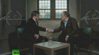 Alex Salmond and Carlos Puigdemont