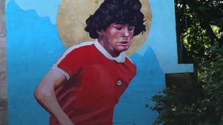 Mural en honor de Diego Armando Maradona