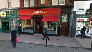 Exterior of Auld's bakery shop