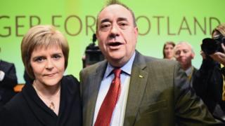 Nicola Sturgeon with the then Scottish Prime Minister Alex Salmond in 2014