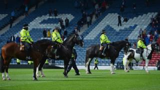 Mounted police at Hampden