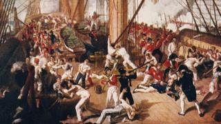 Battle of Trafalgar painting