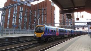 TransPennine train at Leeds station
