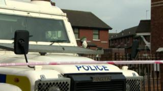 It is believed the device was thrown at a property in Sheridan Street, in the New Lodge area of north Belfast
