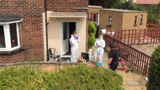 Police at scene in Taunton Vale