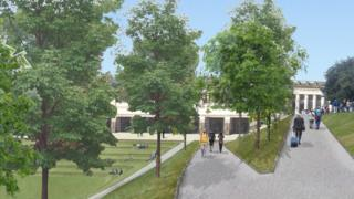 Artist's impression of the new Princes Street Gardens entrance